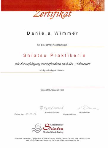 Shiatsu Zertifikat